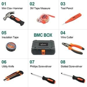 Image 2 - LANNERET 8 stücke Hand Tool Set Tool Kit mit Schraubendreher Test Bleistift Hammer Hand Werkzeuge BMC Box