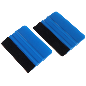 Vinyl Wrap Film Card Squeegee Car Foil Wrapping Suede Felt Scraper Auto Car Styling Sticker Acc Window Tint Tools image