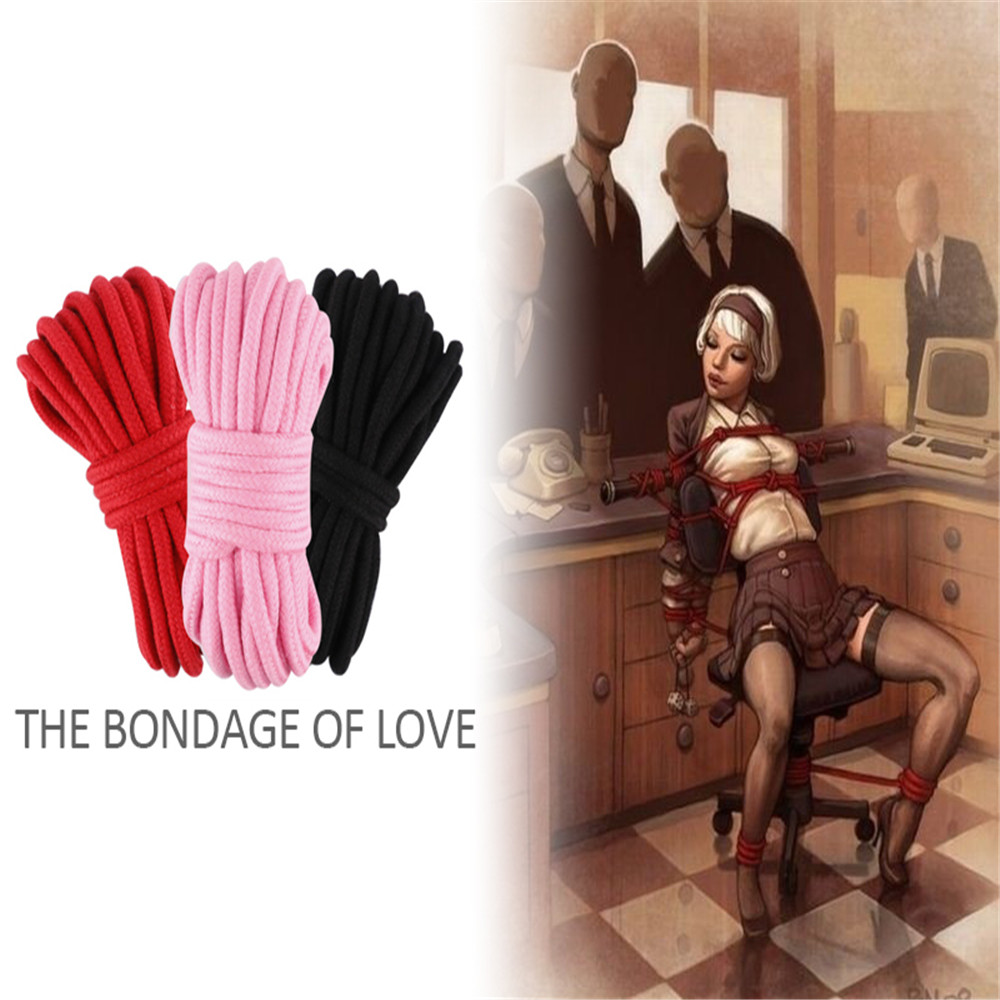 Sex Bondage Slave Rope BDSM Restraint Toys  Soft Cotton Knitted For Couple Women Man Exotic Roleplay 5M 10M