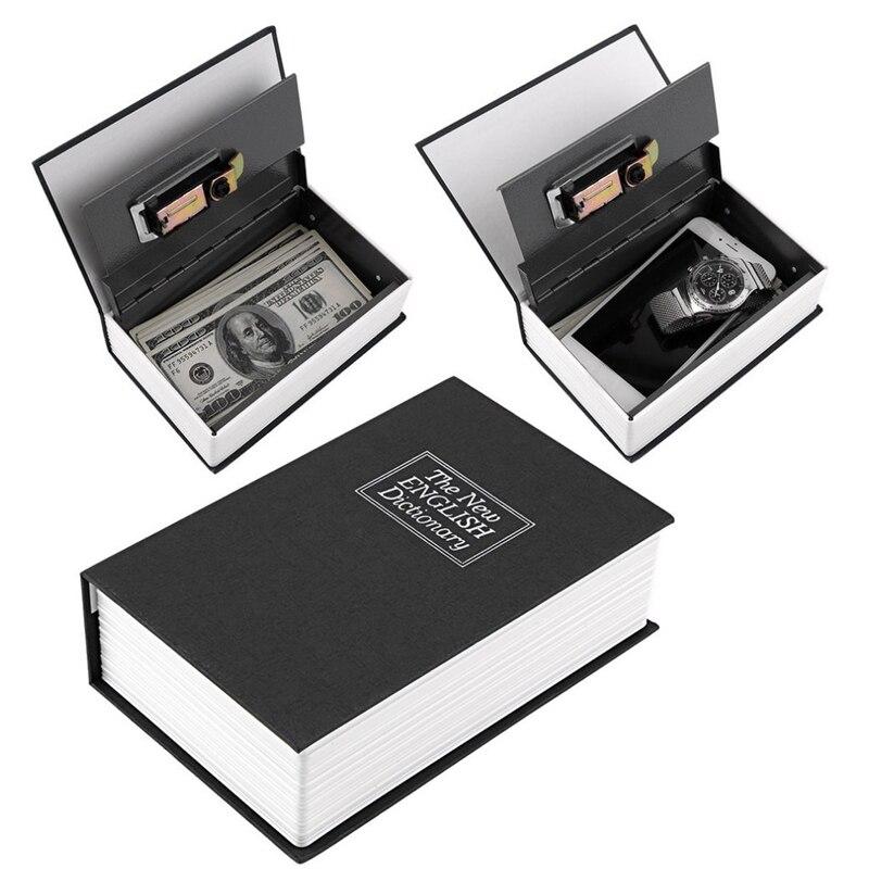 Dictionary Cash Money Box Locker Book Secret Hidden Security Safe Key Lock New Digital Lock Black Safe Box S