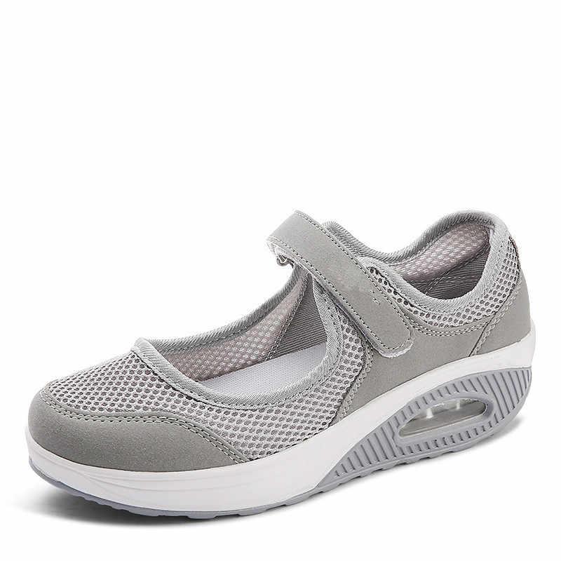 2019 летние модные женские туфли на плоской платформе; женская Повседневная дышащая обувь из сетчатого материала; мокасины; zapatos mujer; женские мокасины