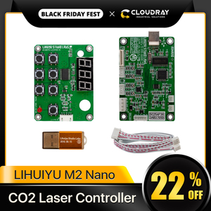 Image 1 - Cloudray LIHUIYU M2 나노 레이저 컨트롤러 마더 메인 보드 + 제어판 + 동글 B 시스템 조각기 커터 DIY 3020 3040 K40