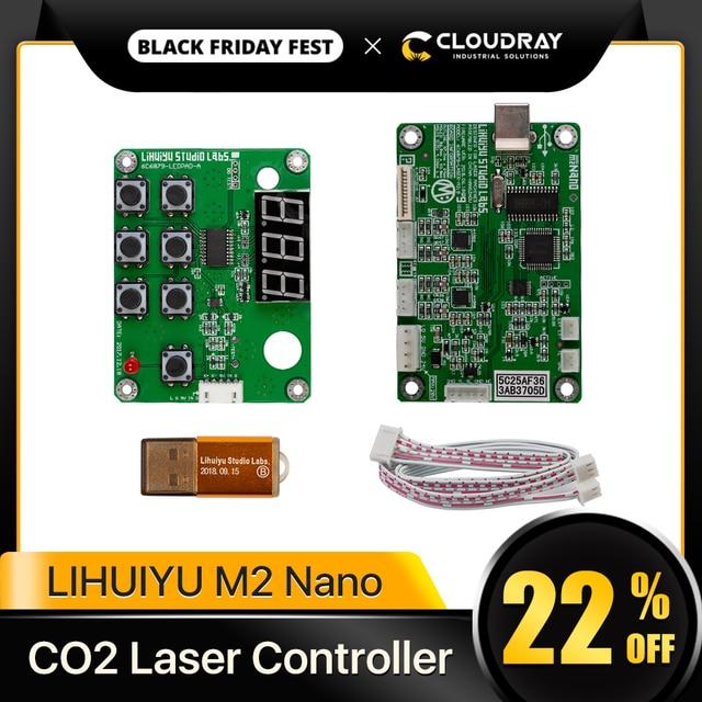 Cloudray LIHUIYU M2 나노 레이저 컨트롤러 마더 메인 보드 + 제어판 + 동글 B 시스템 조각기 커터 DIY 3020 3040 K40