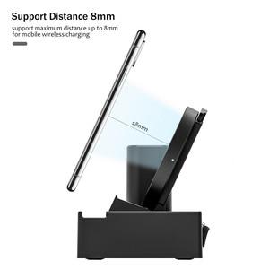 Image 4 - 8 en 1 10W QI Station de chargeur sans fil pour iPhone XR XS Max Airpods 2019 Apple Watch 4 3 rapide Apple Station de charge pour Samsung