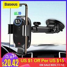 Baseus شاحن لاسلكي حامل هاتف السيارة آيفون Xs ماكس XR شحن لاسلكي سريع لسامسونج نوت 9 S9 سيارة حامل شاحن