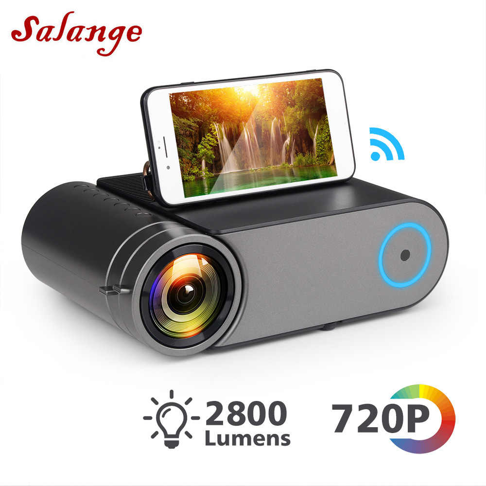 Salange YG420 Mini Projector Home Theater System Led Projector,2400 Lumens,1280x720 HD, Video Beamer HDMI USB 1080p Wifi