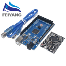 10PCS SAMIORE רובוט MEGA2560 מגה 2560 R3 (ATmega2560 16AU CH340G) AVR USB לוח עם/ללא כבל USB