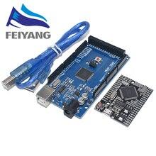 10PCS SAMIORE ROBOT MEGA2560 MEGA 2560 R3 (ATmega2560 16AU CH340G) AVR USBพร้อม/ไม่มีสายUSB