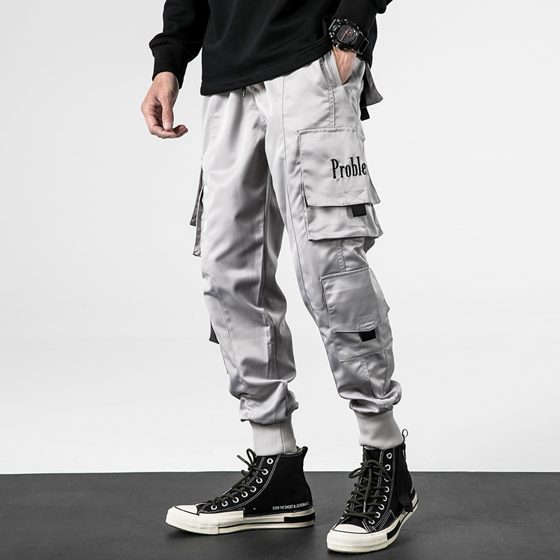 Japanese-style Popular Brand MEN'S Overalls 19 Autumn And Winter New Style Loose-Fit Hip Hop Beam Leg Casual Pants Men's Fashion