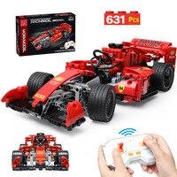 Nuova Formula MOC tecnica RC Racing Car Building Blocks città telecomando Drift veicolo mattoni giocattoli per bambini ragazzi