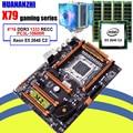 Материнская плата HUANANZHI X79 для сборки компьютера своими руками  со слотом M.2  со скидкой  с ЦП Xeon E5 2640 RAM 64G (4*16G)