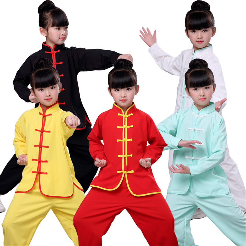 Traditional Chinese Clothing For Boys Kung Fu Hanfu Kids Wu Tang Suit New Year Stage Performance Tai Chi Costumes