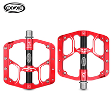 Mountain Road Bicycle Pedals 3 Bearings CNC Bike Flat Pedals Ultralight Anti-Skid Aluminium Alloy Cycling Pedals MTB Accessories mtb road bicycle pedals 3 sealed bearings bicycle pedals mountain bike pedals wide platform pedales anti slip and rust proof