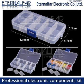 цена на Transparent Storage Screw Case Storage DIY Parts Box Electronic Component Transparent Wire Terminal Switch Fuse Connector Boxes