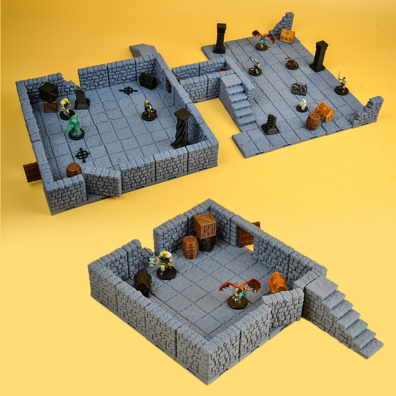 Dragons TRPG Lock Dungeons Starter Expansion Set Miniature Bbg Game Wall Stone Door Slate Territory Tools Town Scene 3d Models