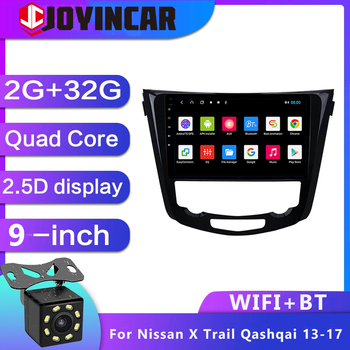 JOYINCAR For Nissan X-TRAIL X Trail T32 Qashqai 2 J11 2013 2014 2015 2016 2017 Car Radio Multimedia Video Player Navigation GPS image