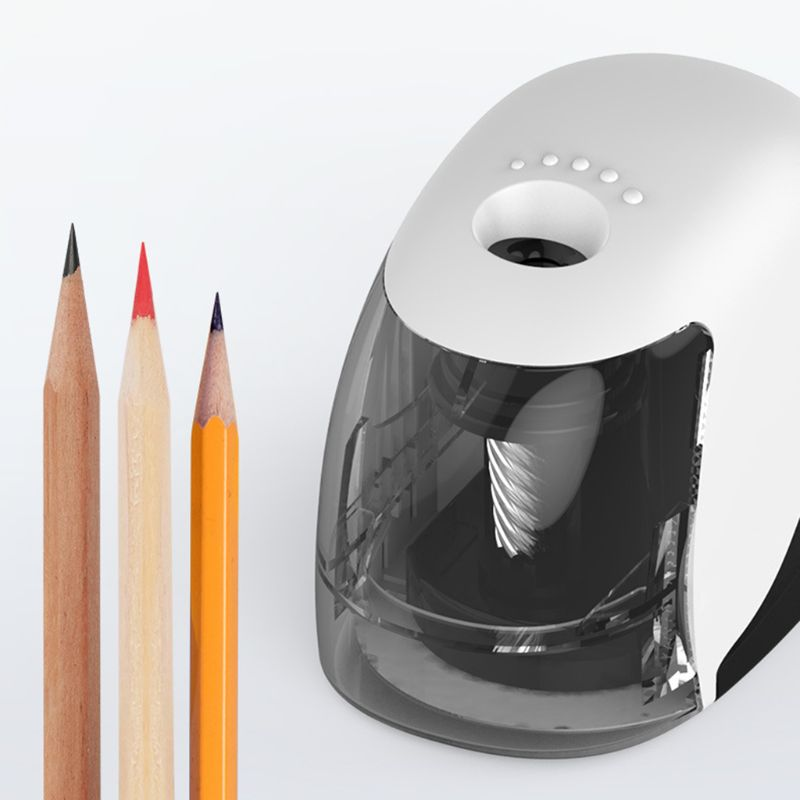 USB Electric Pencil Sharpener Simple Business Style Automatic Sharpeners Desktop School Office Supplies|Pencil Sharpeners| |  - title=