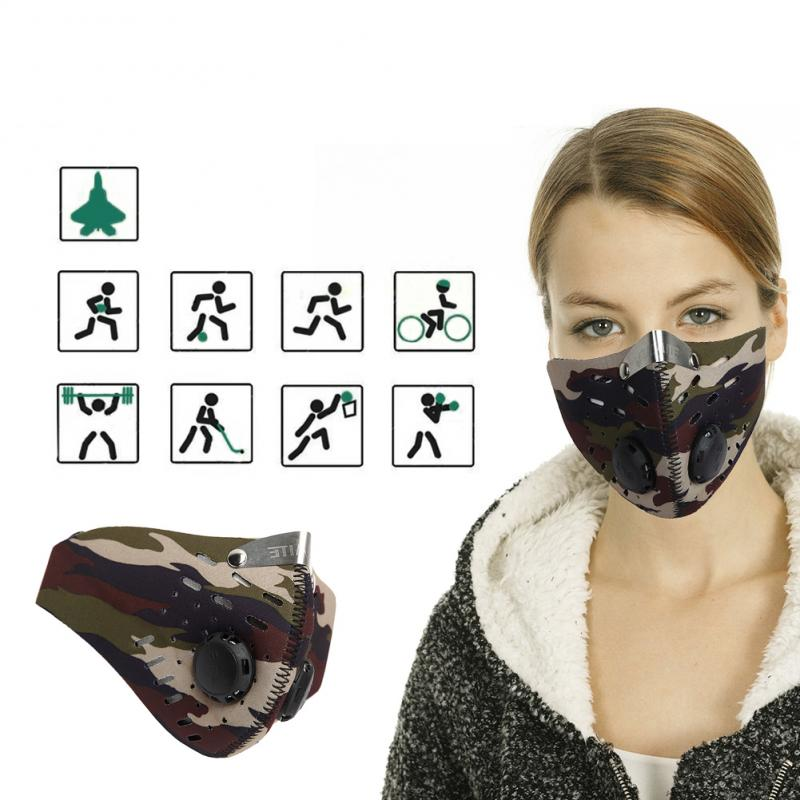 For Men/Women Activated Carbon Dust-proof Cycling Face Mask For Running Anti-fog Outdoor Bicycle Bike Mask With Filter Half Face