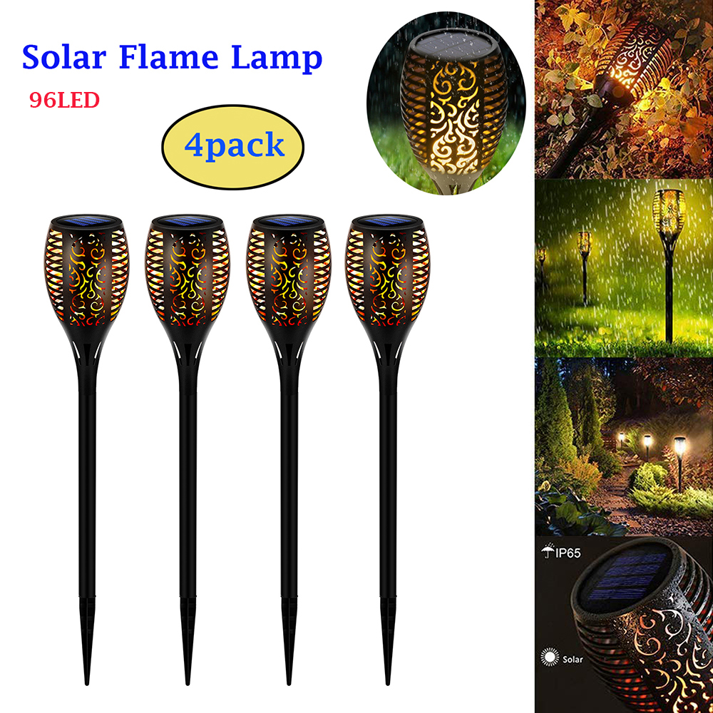 StillCool 1/2/4pcs LED Solar Flame Lamp Flickering Outdoor Waterproof Torch Light Landscape Yard Garden Light Path Lighting