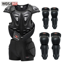 WOSAWE Kinder Full Body Protector Weste Rüstung Kinder Motocross Rüstung Jacke Brust Wirbelsäule Schutz Getriebe Ellenbogen Schulter Knie Schutz