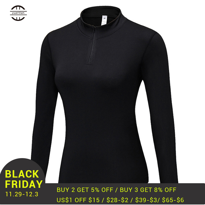 Yuerlian Women Seamless jersey mujer Long Sleeve Velvet Top Sports Wear for Gym Yoga Shirt Femme Workout Clothes
