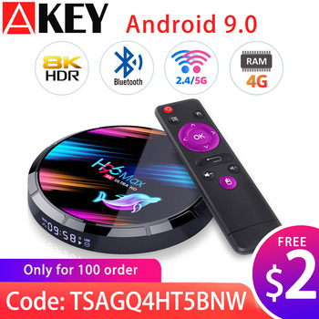 AKEY H96 Max X3 Android 9.0 TV Box|128GB 64GB 32GB Amlogic S905X3 Quad core Wifi 8K Youtube Google store|Media Set top box