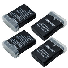 Batterie 4x1800mAh EN EL14 + double chargeur LCD pour Nikon P7800,P7100,D3400,D5500,D5300,D5200,D3200,D3300