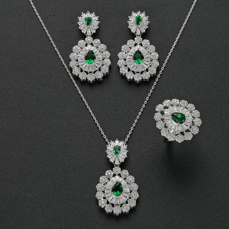 Jewelry Sets HADIYANA Novel Design Many Color Optional Earring And Necklace Sets New Charming Elegant For Women CN1125 Bisuteria