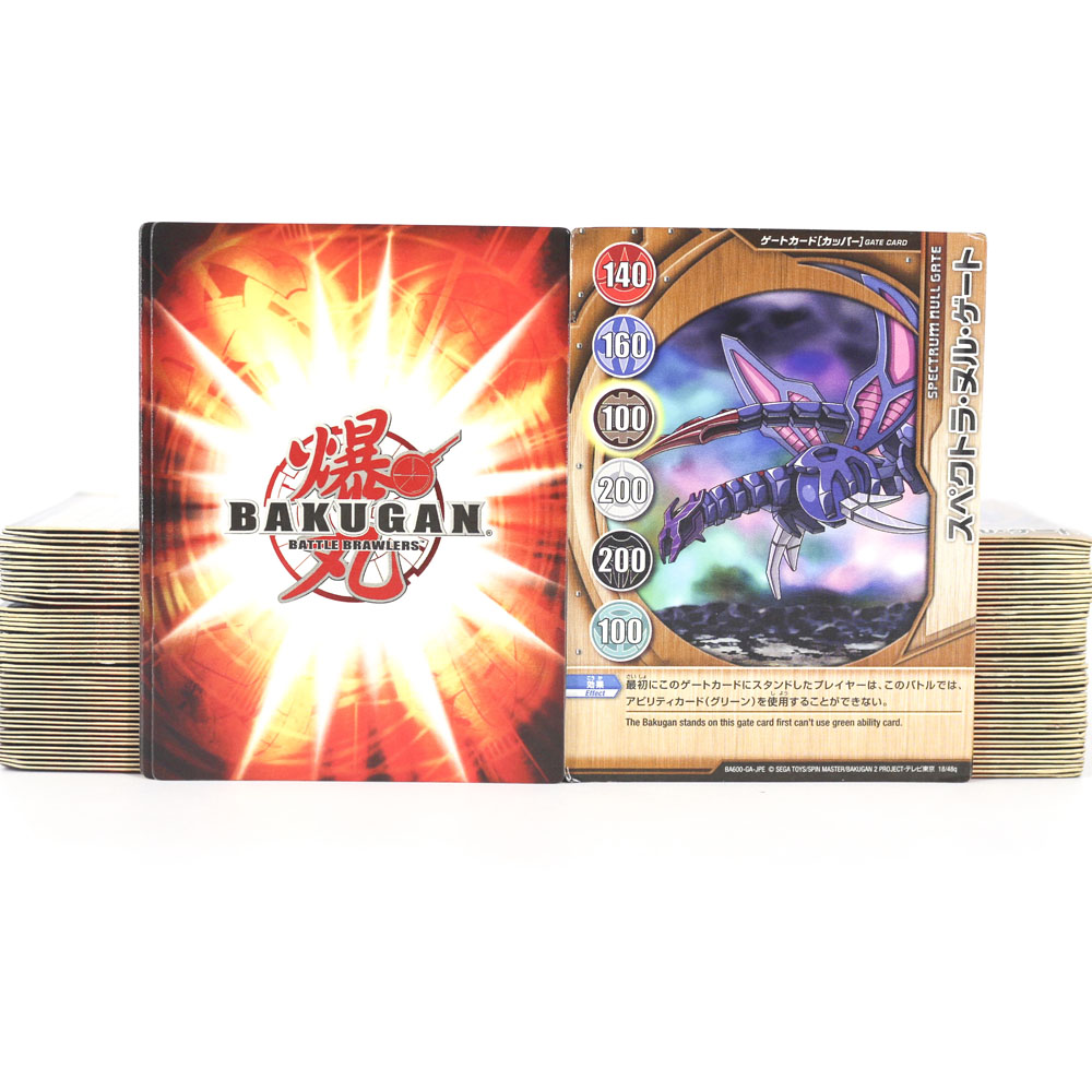 TAKARA TOMY Original Bakugan Battle Brawlers Bakucores Baku Cards Metal Kids Gifts