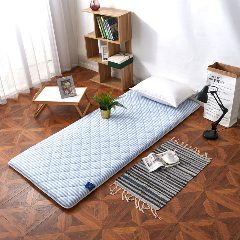 New Style Thick Brushed Printed Foldable Foam Mattress Tatami Single Double Students Dormitory Coaster
