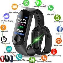 Smart Horloge M3 Armband Polsbandje Hartslagmeter Bloeddruk Fitness Tracker Leven Waterdichte Sport Volwassen