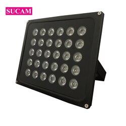 Wodoodporna lampa bezpieczeństwa AC 220V reflektor na podczerwień Black Metal 30 sztuk ledy Array IR Lights dla kamera telewizji przemysłowej w nocy
