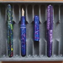 Fuliwen 017 Resin Fountain Pen Big Size Converter #6 M Nib Or Snake Rings For Office school supplies