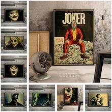 Vintage art deco Joker película payaso Batman arte decoración hogar pintura calidad carteles de vida lienzo pintura M364
