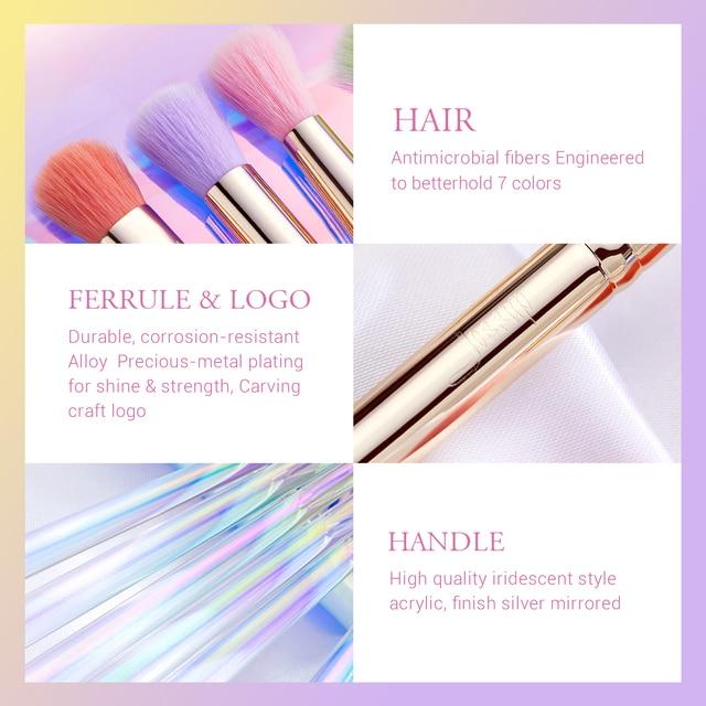 Jessup Makeup Brushes Set Eyeshadow Concealer Blending Brush, Make Up Sponge, Storage Box, Cosmetic Tool Kits With PU Bag 2