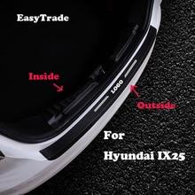 купить Car styling leather Rear Bumper Protector Sill Trunk Tread Plate Trim Sticker For Hyundai IX35 2010-2019 interior Accessorioes онлайн
