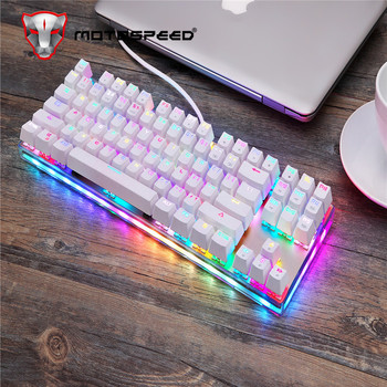 Original Motospeed K87S Gaming Mechanical Keyboard USB Wired 87 keys with RGB Backlight Red/Blue Switch for PC Computer Gamer ajazz ak33 82 keys mechanical keyboard russian english layout gaming keyboard rgb backlight switch wired keypad