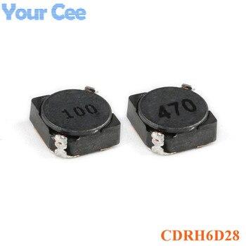 10 pièces CDRH6D28 6D28 SMD inducteur blindé puissance Inductance 10uH 47uH 100 470