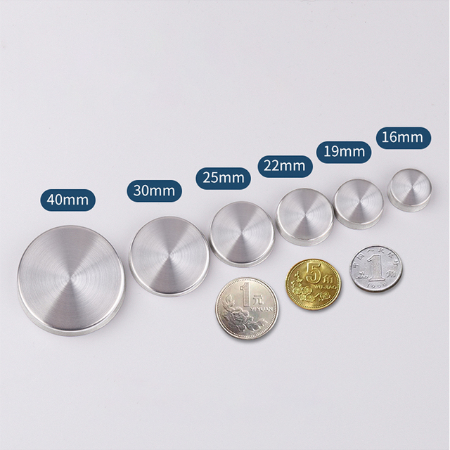 Stainless Steel Decorative Advertising Mirror Screws Cap Cover Nails 12mm-40mm