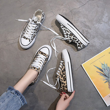 Spring Summer Women Sneakers Fashion Breathble Vulcanized Shoes Canvas Lace Up Casual Shoes Leopard Tenis Feminino Zapatos Mujer стоимость