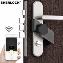 Sherlock S3 Silver/Black Smart lock Bluetooth Phone App Control Smart Lock Keyless Support Remote Key Electronic Door Lock