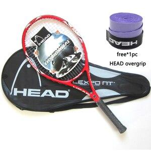 Original HEAD Tennis Racket Professional Carbon Fiber Rackets With Free Bag Overgrip String Padel Racchettas Raquete De Tennis