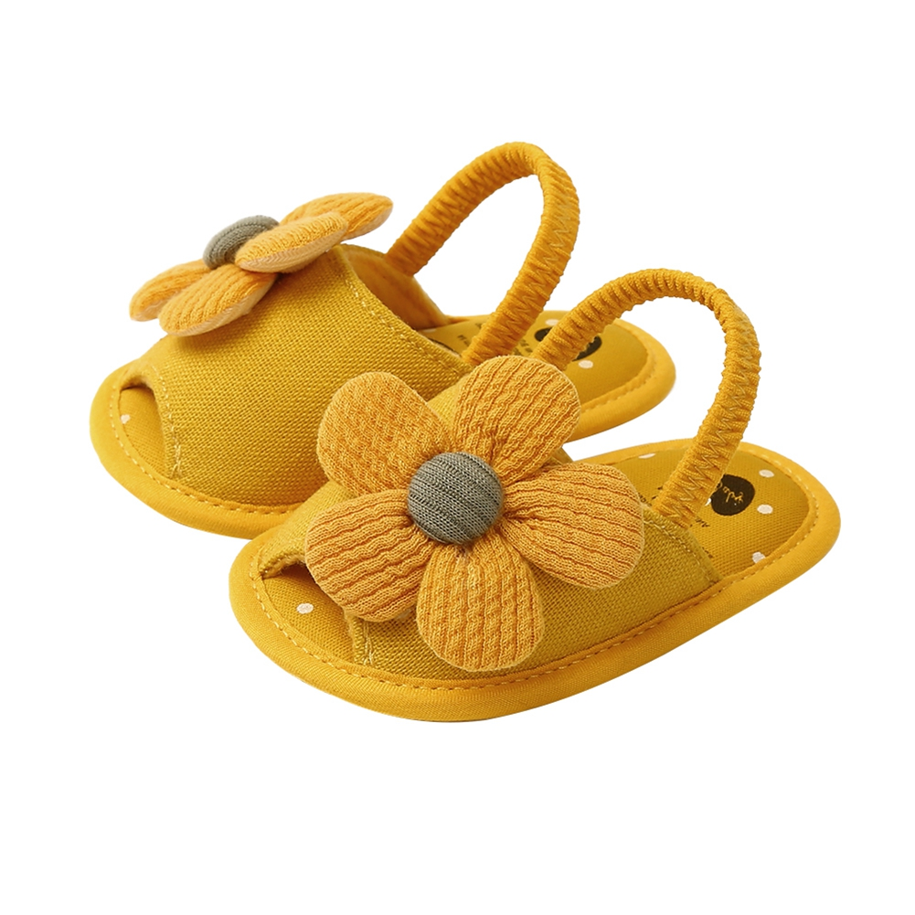 2020 Baby Summer Shoes  Newborn Baby Girl Sunflowers Shoes Cute Soft Prewalker Shoes Breathable Clogs