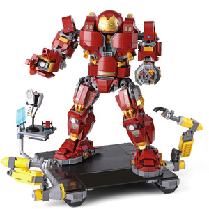 Image 1 - Iron Man Hulkbuster Lepining 76105 Marvel Ironman Avengers Super Heroes Model Kit Building Blocks Boys Christmas Gifts Kids Toys