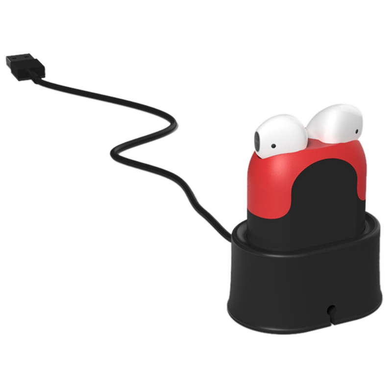Headset Charger for Airpods Airpods2 Apple Wireless Bluetooth Headset Earphone Charging Case Protective Case Black Red in Earphone Accessories from Consumer Electronics