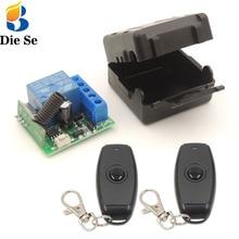 Diese 12V relais récepteur 433Mhz universel sans fil télécommande commutateur rf contrôleur et émetteur pour système de porte électrique