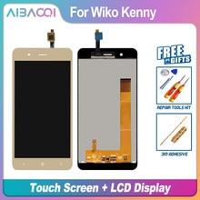 Aibaoqi novo original 5.0 Polegada tela de toque + 854x480 display lcd assembléia substituição para wiko kenny telefone