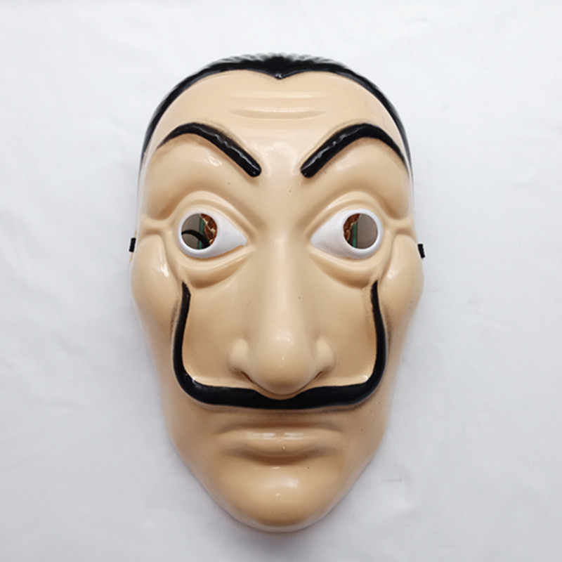 Party Beard Masks Dali Plastic Halloween Paper House La Casa De Papel Cosplay Decoration Masquerade Funny Tools Novel masks
