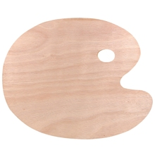 40x30Cm Wooden Oil Painting Palette Wood Oval Pigment Paint Plate Gouache Acrylic Drawing Art Supplie for Student Kids