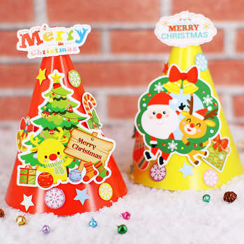 christmas decoration/hat kindergarten lots arts crafts diy toys Puzzle crafts kids educational for children's toys girl/boy gift new kindergarten lots arts crafts diy toys creative cartoon nonwoven fabric glove crafts kids finger educational for children s toys fun party diy decorations girl boy christmas gift 18903